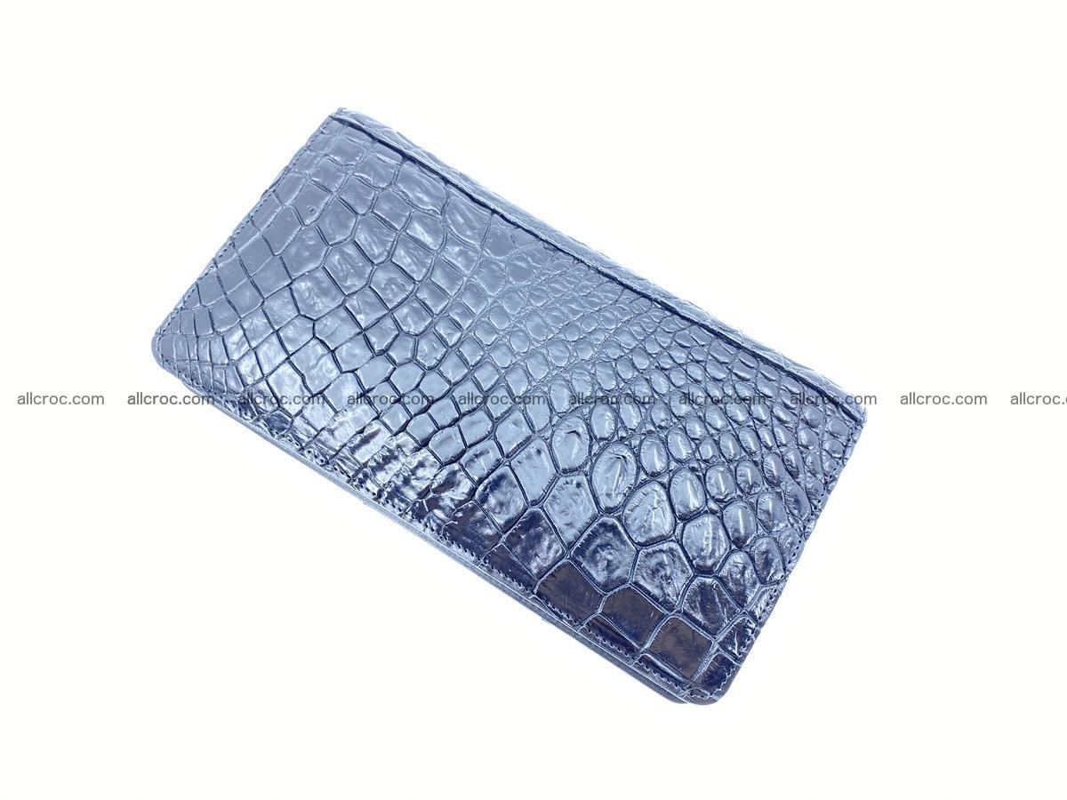 Crocodile skin zip wallet 614 Foto 7