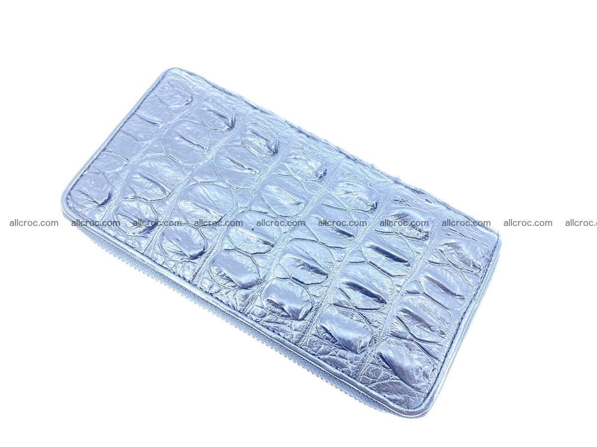 Crocodile skin wallet 2-zips 613 Foto 7