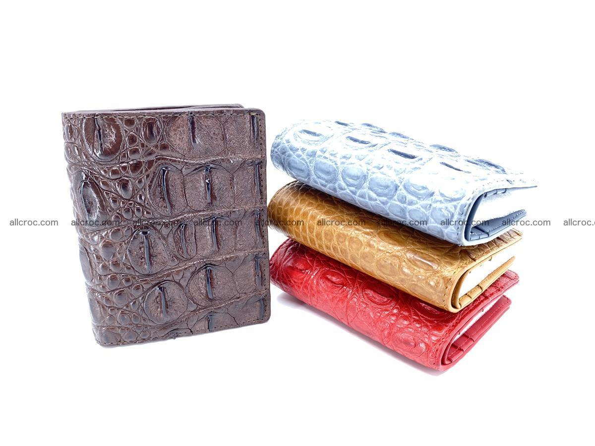 Crocodile leather vertical wallet HK 639 Foto 7