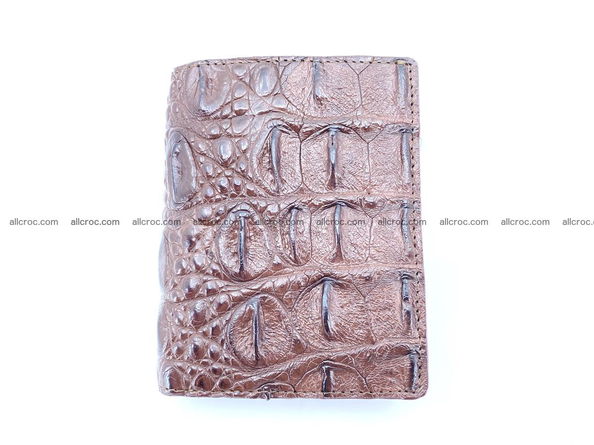 Crocodile leather vertical wallet HK 639 Foto 0