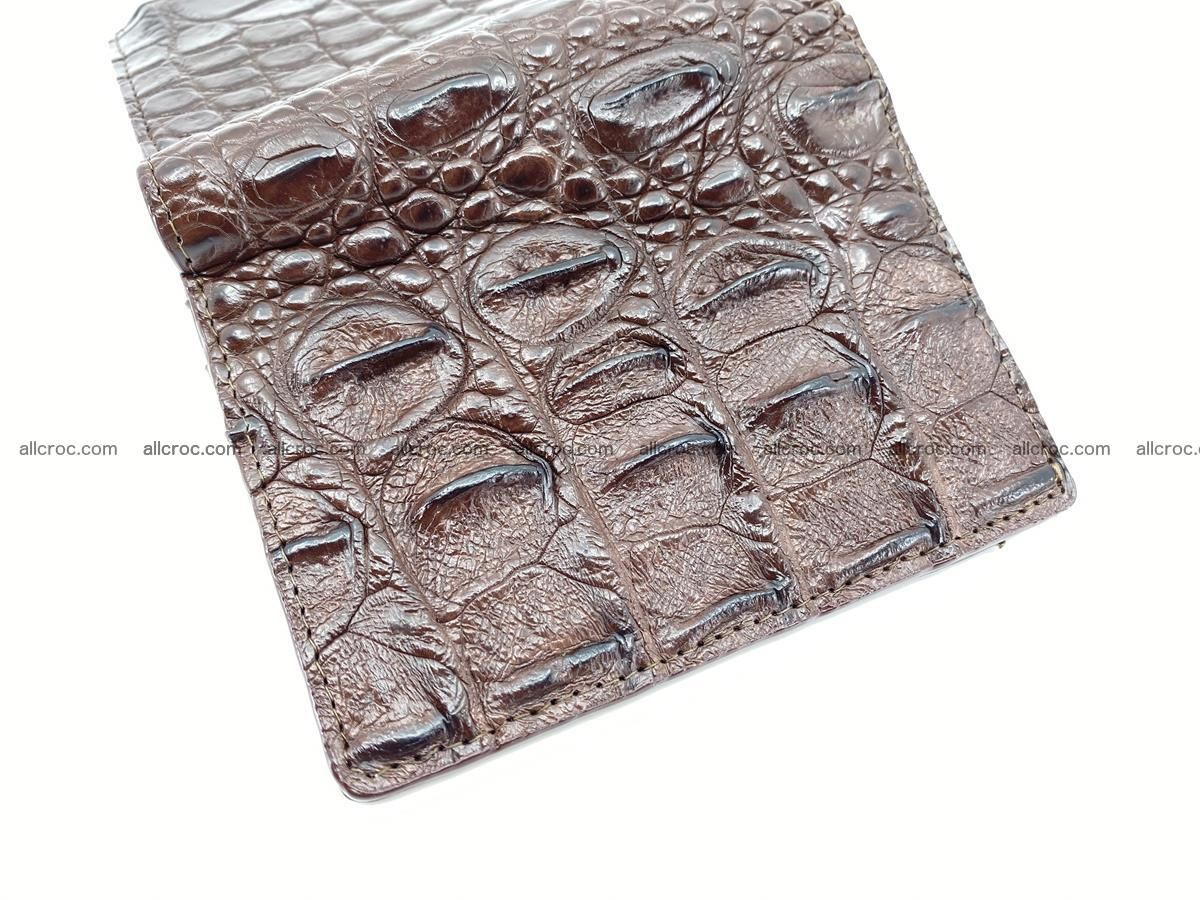 Crocodile leather vertical wallet HK 639 Foto 4