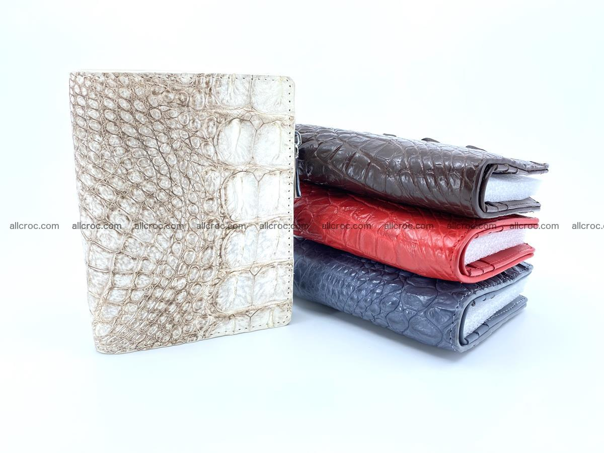Crocodile leather vertical wallet HK 642 Foto 7