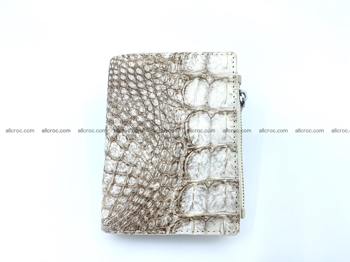 Crocodile leather vertical wallet HK 642 Foto 0