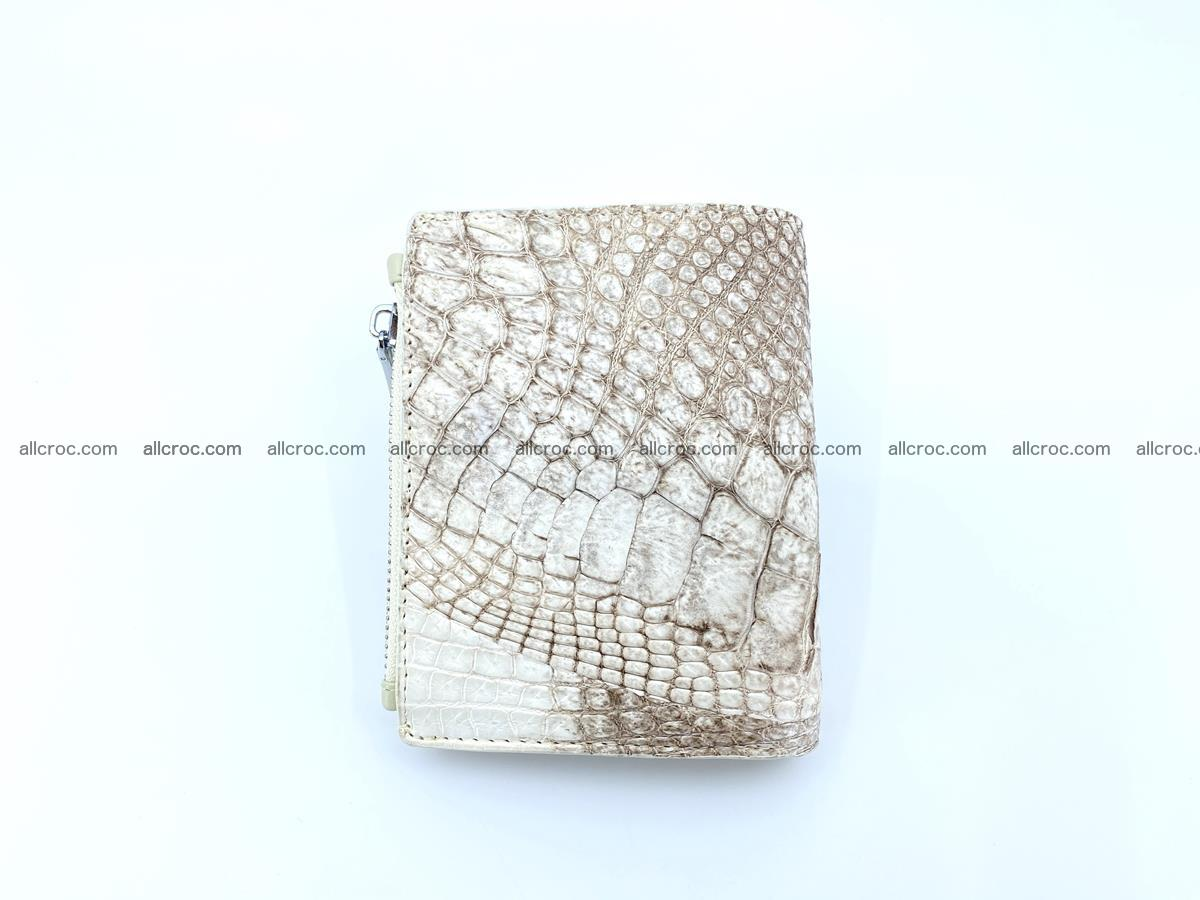 Crocodile leather vertical wallet HK 642 Foto 1