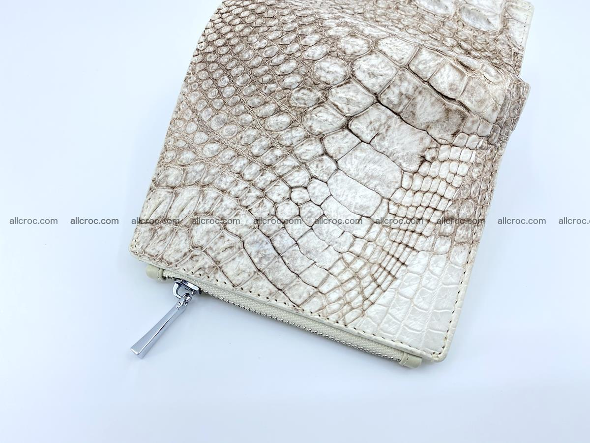 Crocodile leather vertical wallet HK 642 Foto 3