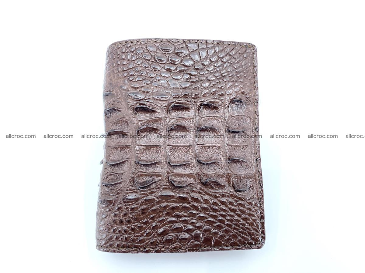 Crocodile leather vertical wallet HK 647 Foto 0