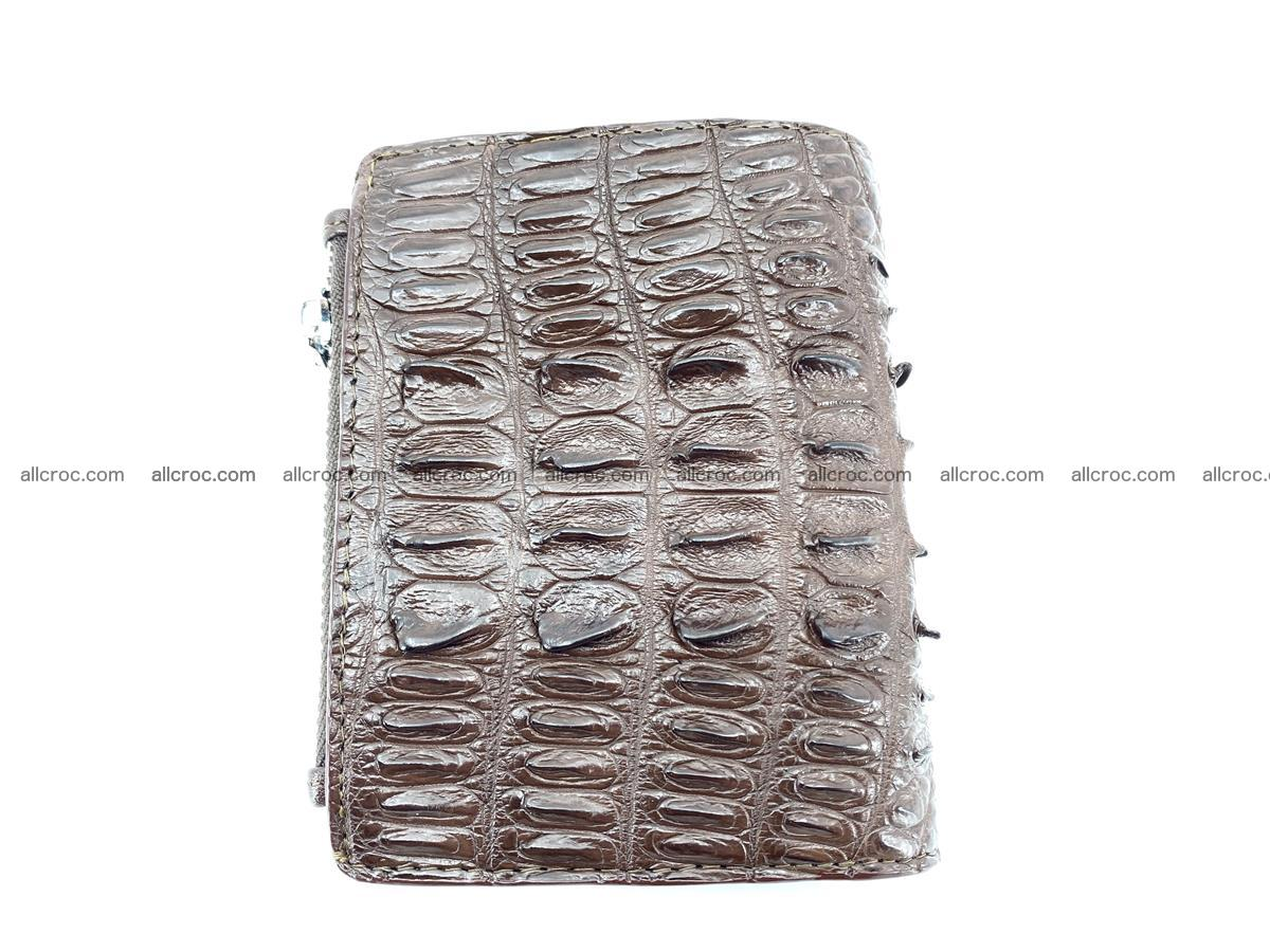 Crocodile leather vertical wallet HK 647 Foto 1