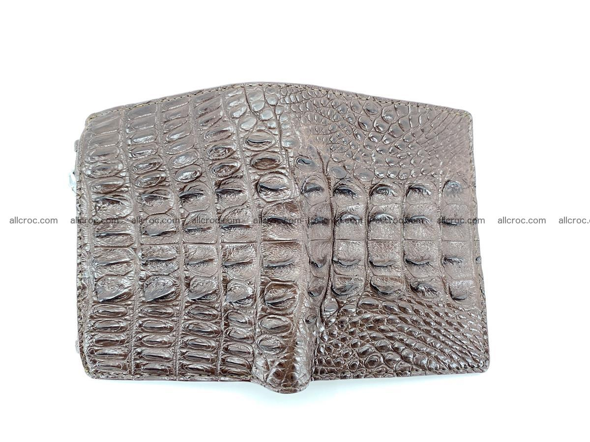 Crocodile leather vertical wallet HK 647 Foto 2