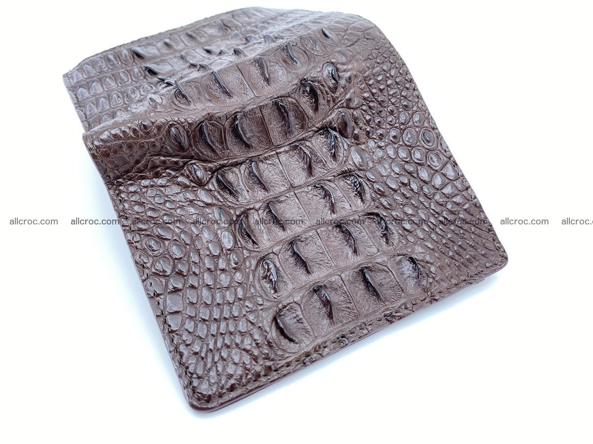 Crocodile leather vertical wallet HK 647 Foto 4