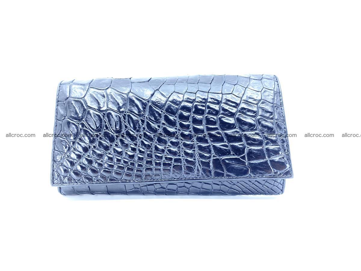 Crocodile leather wallet long wallet trifold 655 Foto 0