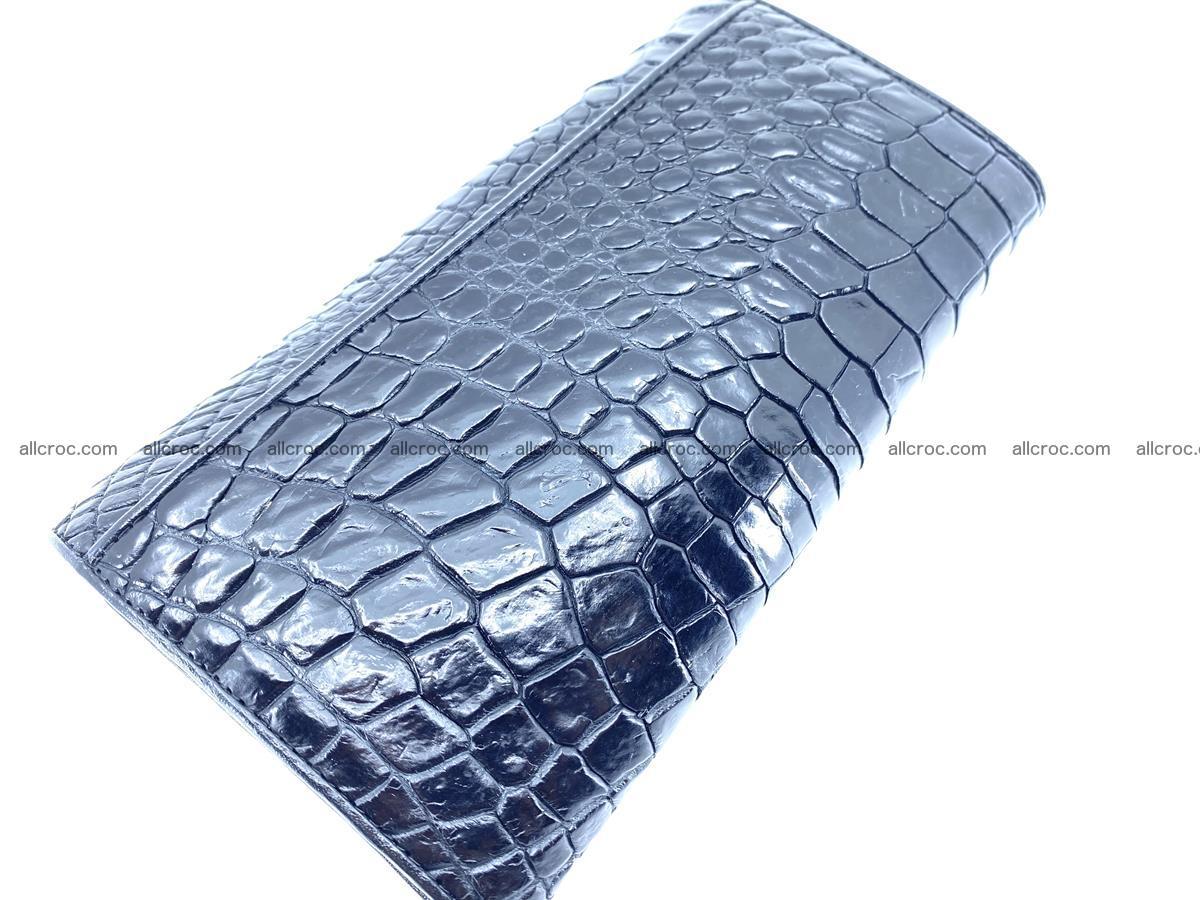 Crocodile leather wallet long wallet trifold 655 Foto 3