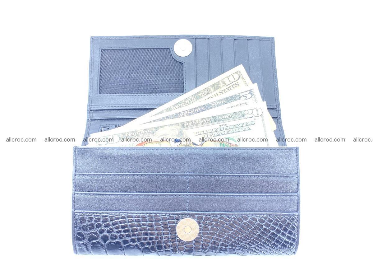 Crocodile leather wallet long wallet trifold 655 Foto 4