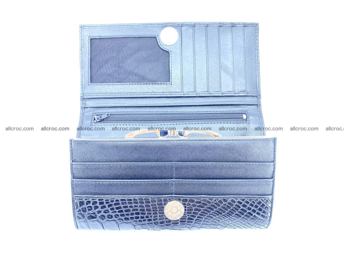 Crocodile leather wallet long wallet trifold 655 Foto 5