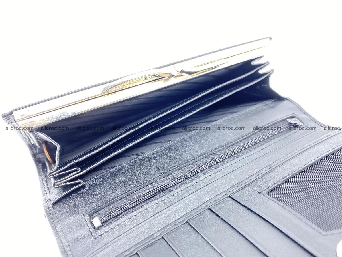 Crocodile leather wallet long wallet trifold 655 Foto 6
