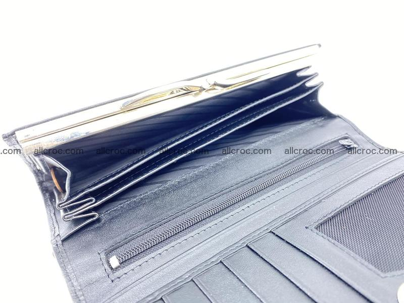 Crocodile leather wallet long wallet trifold 655