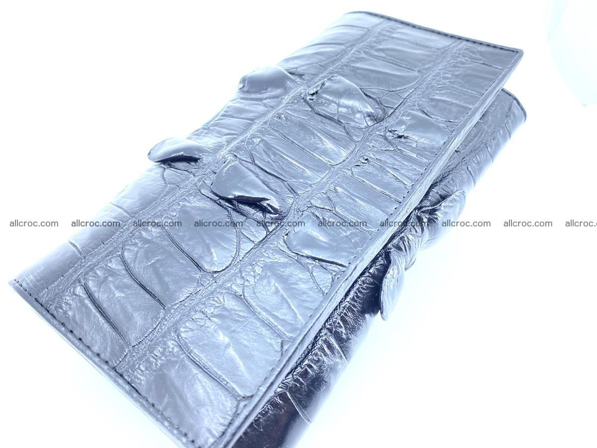 Crocodile leather wallet long wallet trifold 652 Foto 2