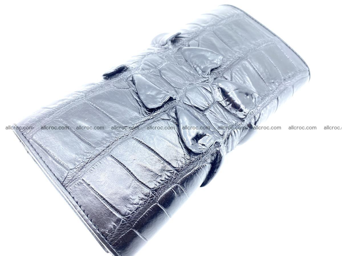Crocodile leather wallet long wallet trifold 652 Foto 3