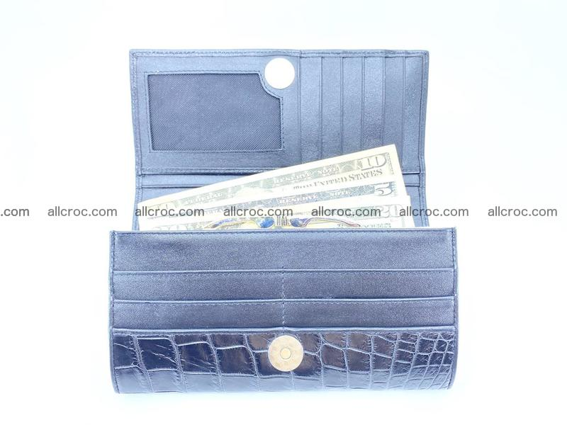 Crocodile leather wallet long wallet trifold 650