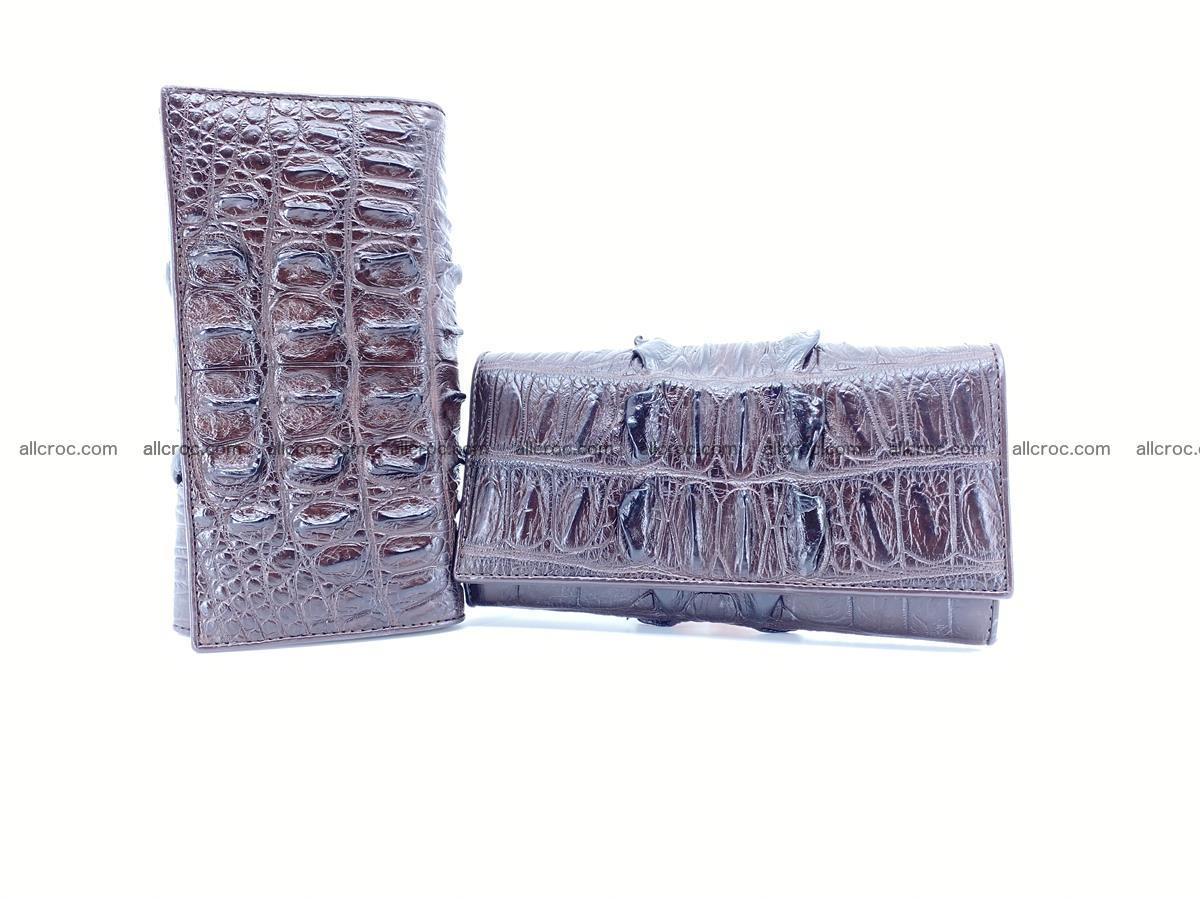 Crocodile leather wallet long wallet trifold 651 Foto 9