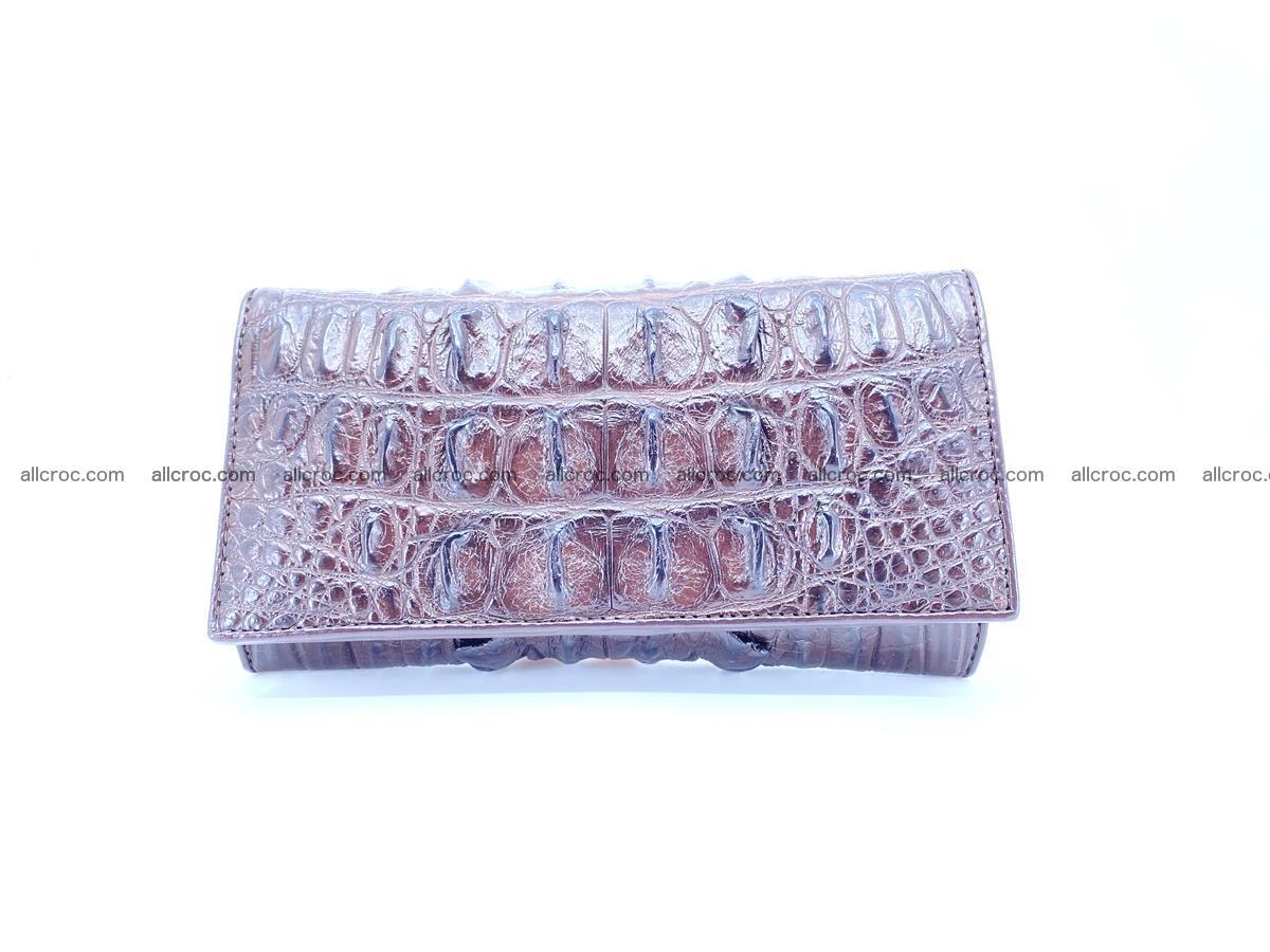 Crocodile leather wallet long wallet trifold 651 Foto 0