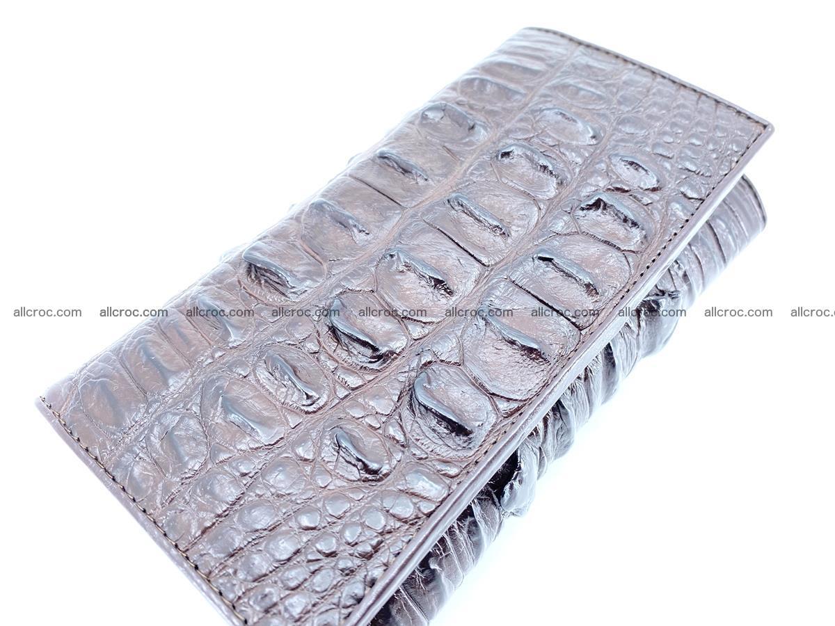Crocodile leather wallet long wallet trifold 651 Foto 2