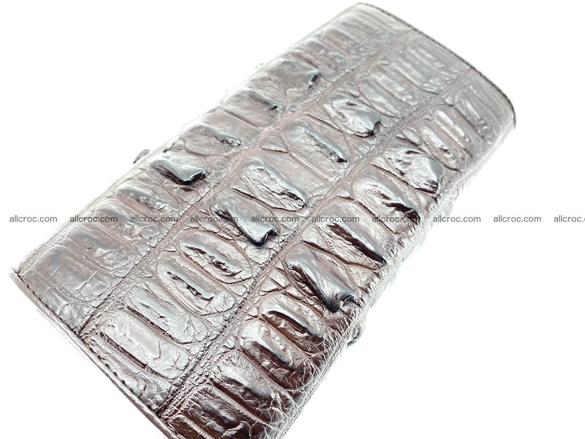 Crocodile leather wallet long wallet trifold 651 Foto 3