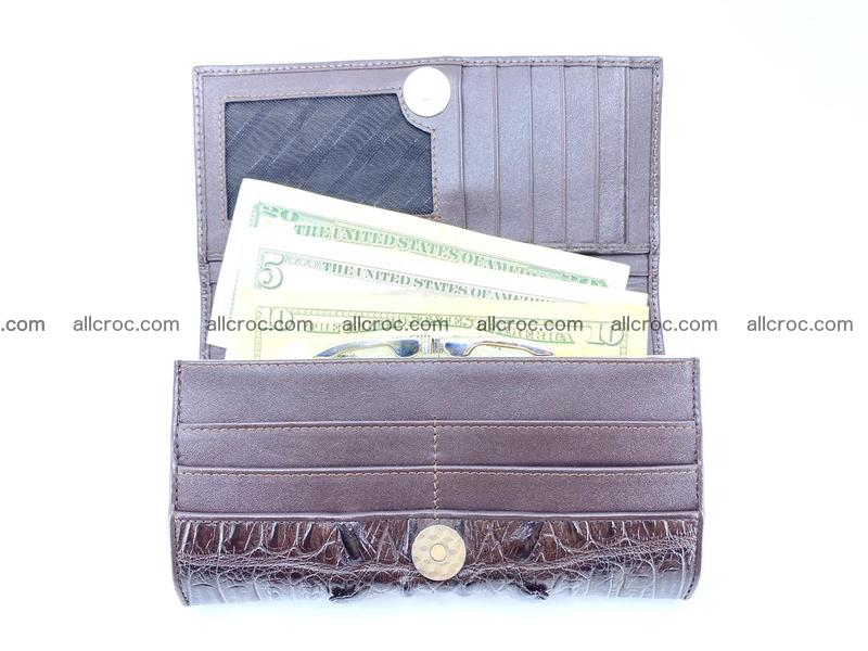 Crocodile leather wallet long wallet trifold 651