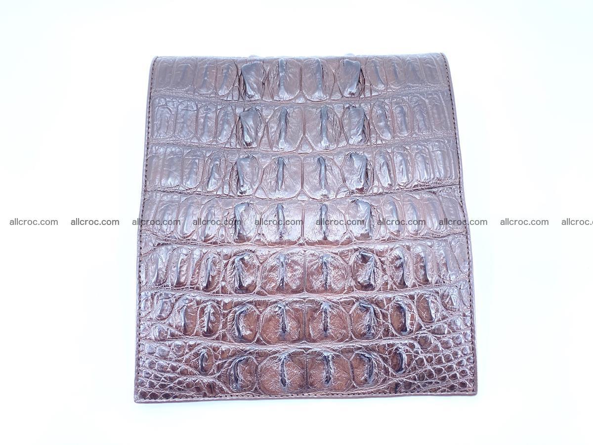 Crocodile leather wallet long wallet trifold 651 Foto 7