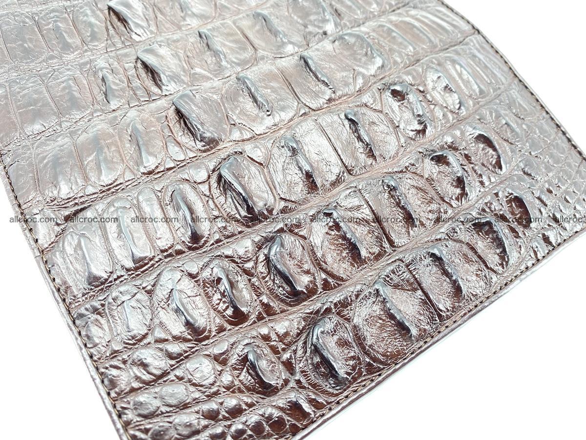 Crocodile leather wallet long wallet trifold 651 Foto 8