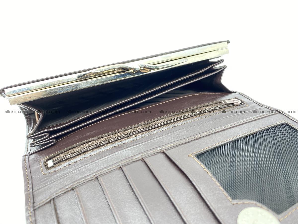 Crocodile leather wallet long wallet trifold 651 Foto 6