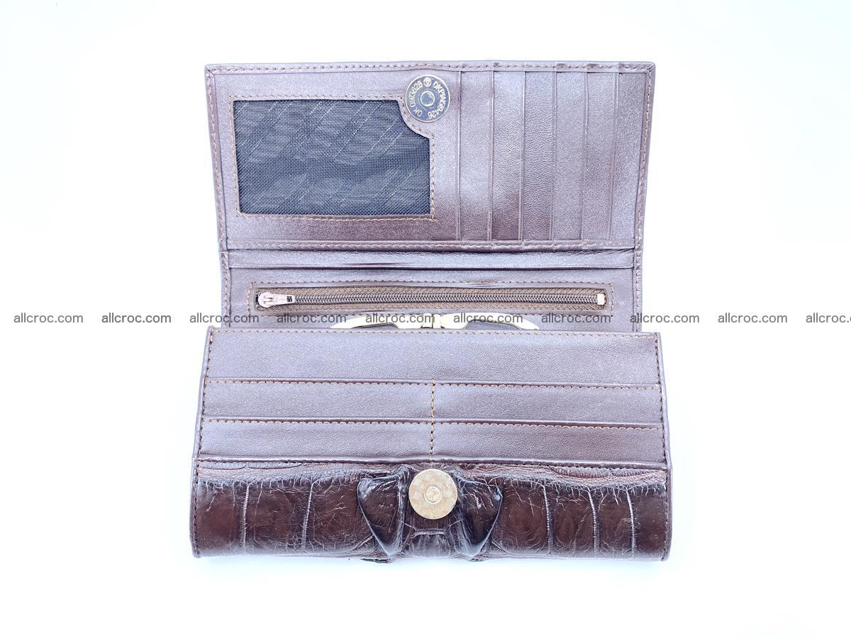 Crocodile leather wallet long wallet trifold 651 Foto 5