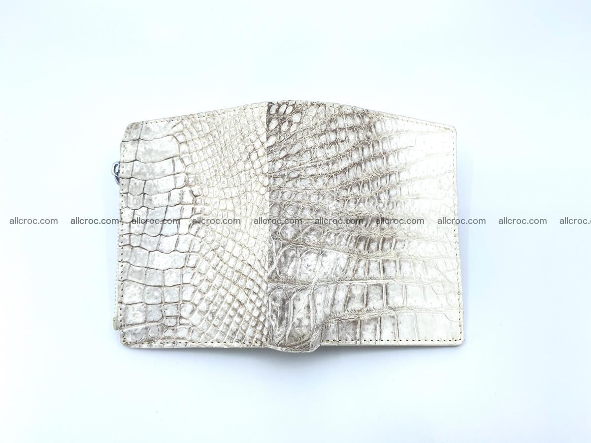 Crocodile leather vertical wallet HK 645 Foto 2