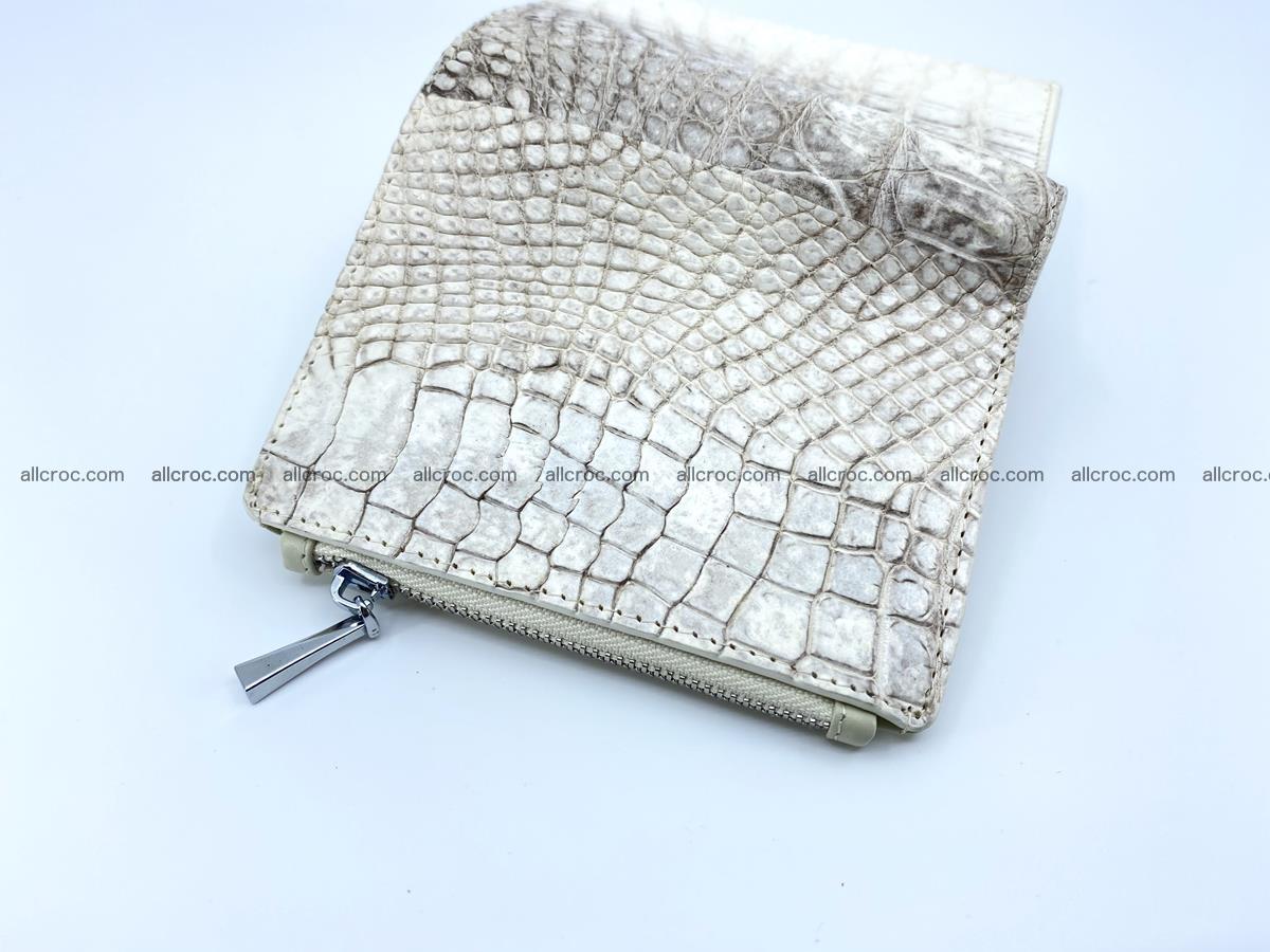 Crocodile leather vertical wallet HK 645 Foto 3