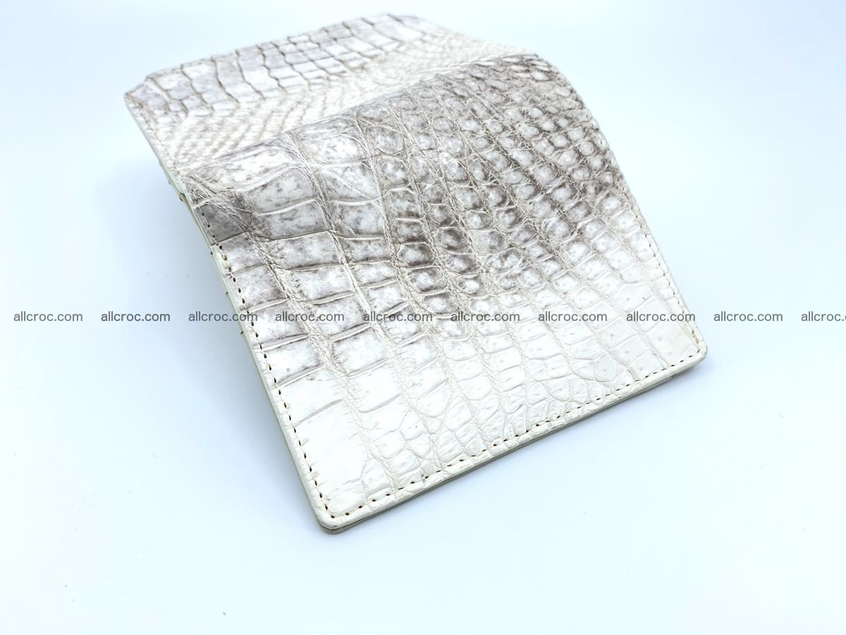 Crocodile leather vertical wallet HK 645 Foto 4