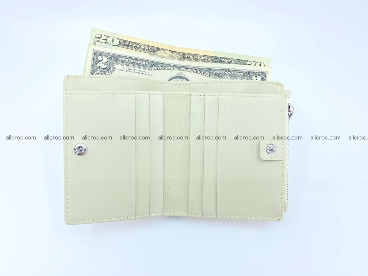 Crocodile leather vertical wallet HK 645 Foto 5