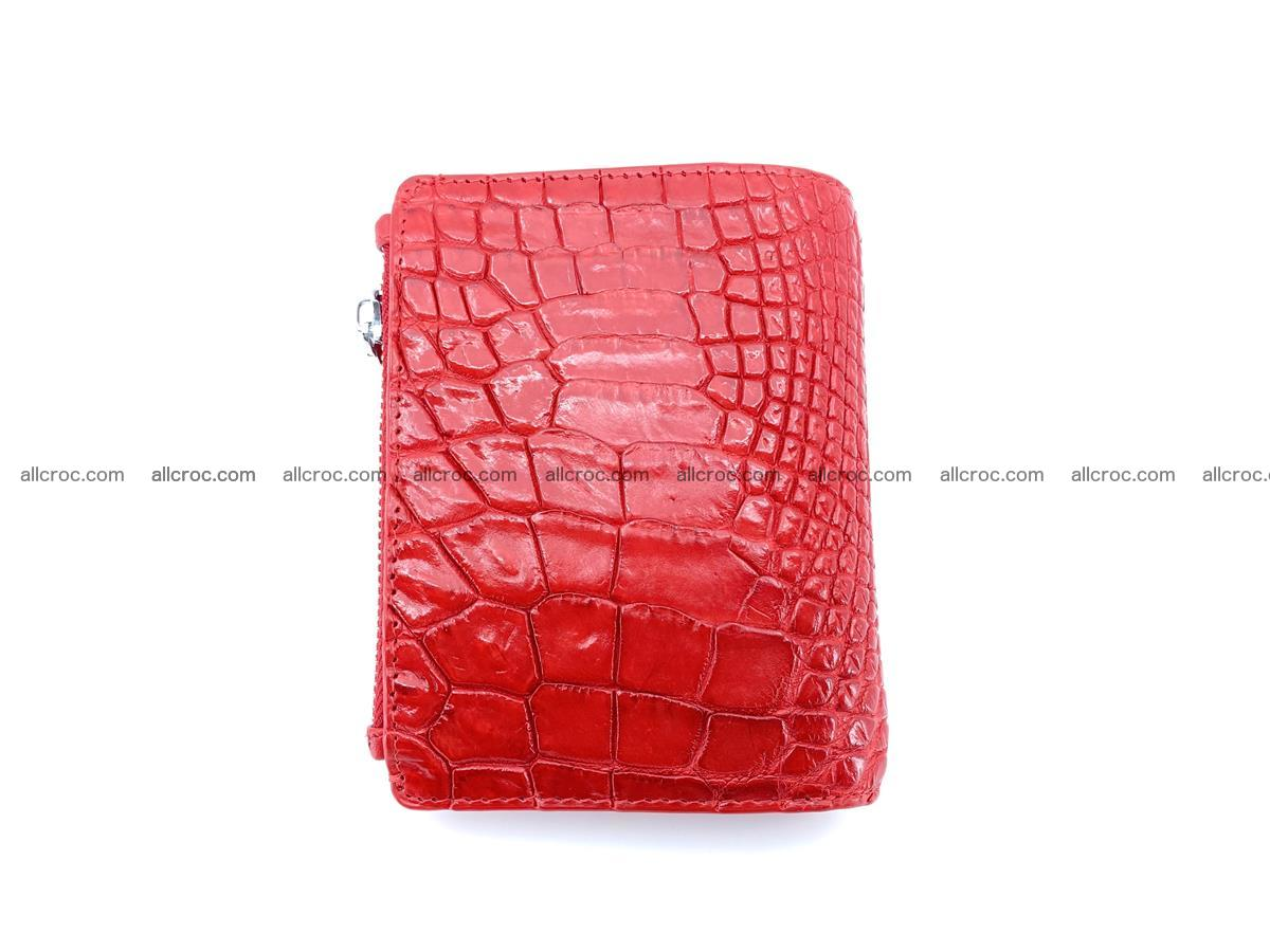 Crocodile leather vertical wallet HK 646 Foto 2