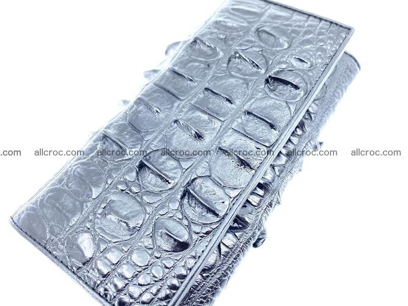 Crocodile leather wallet long wallet trifold 653
