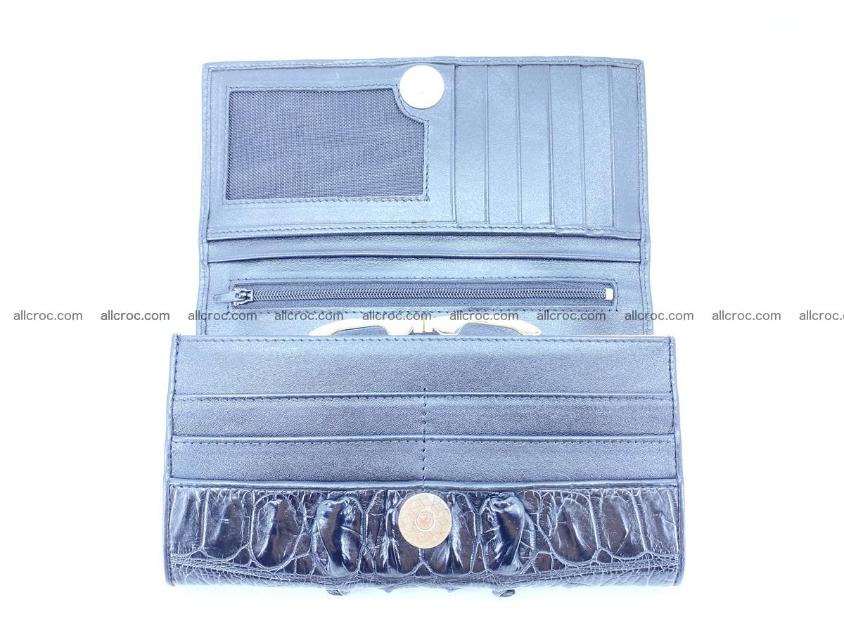 Crocodile leather wallet long wallet trifold 653 Foto 7