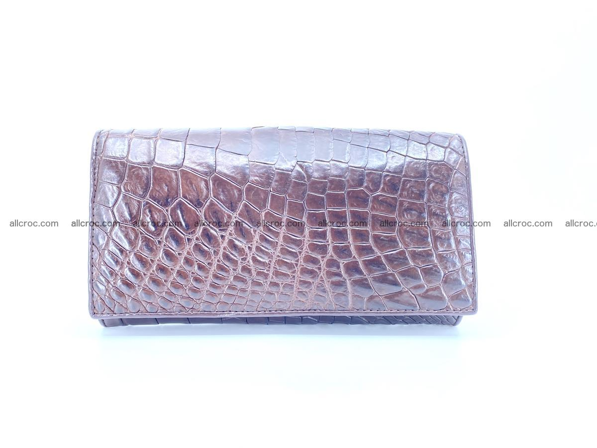 Crocodile leather wallet long wallet trifold 654 Foto 0