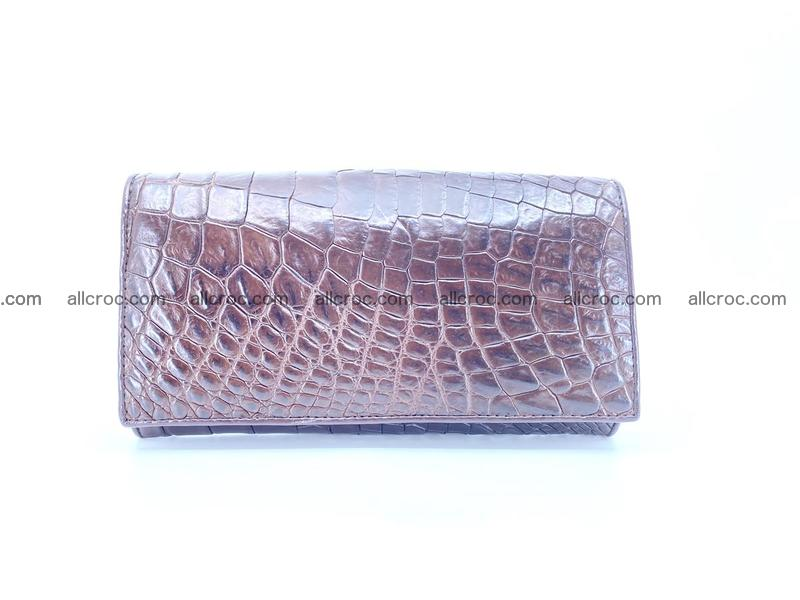 Crocodile leather wallet long wallet trifold 654