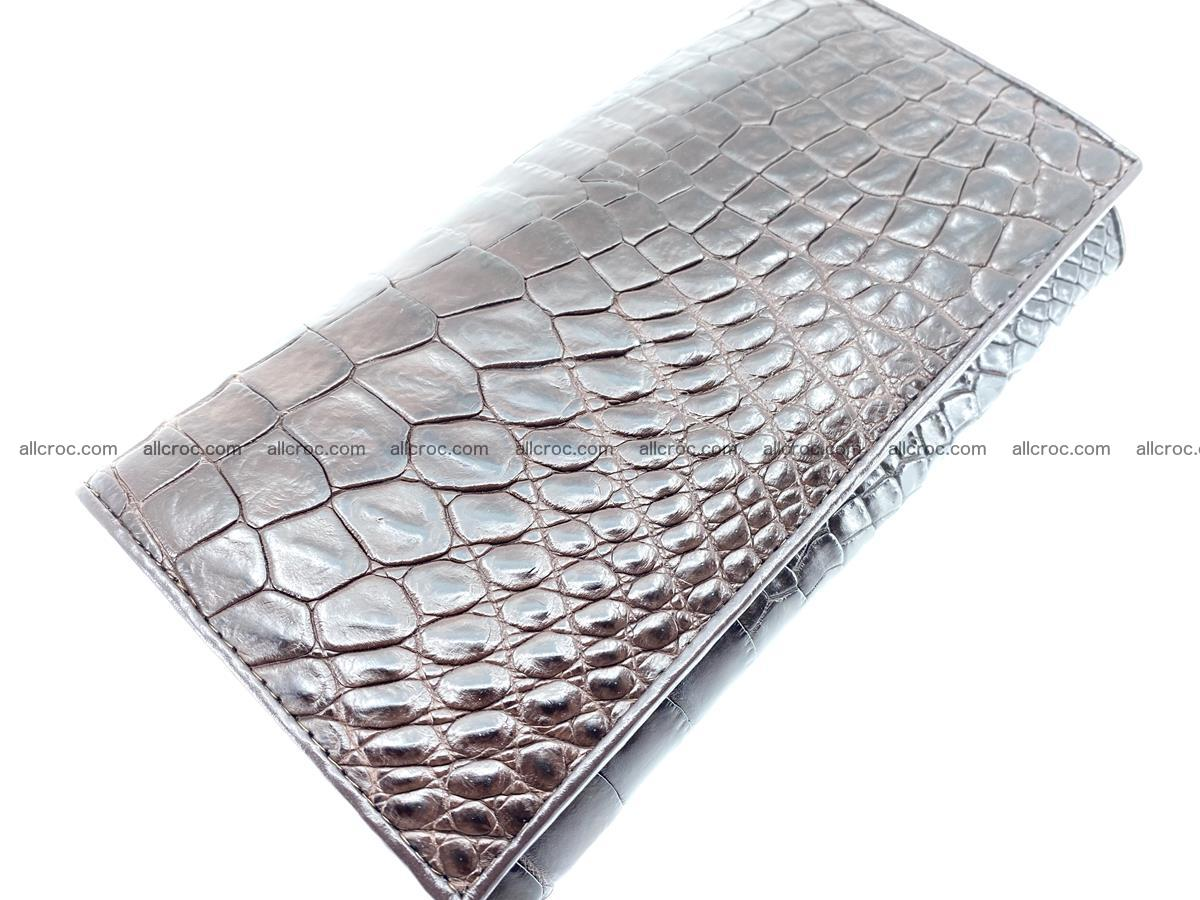 Crocodile leather wallet long wallet trifold 654 Foto 2