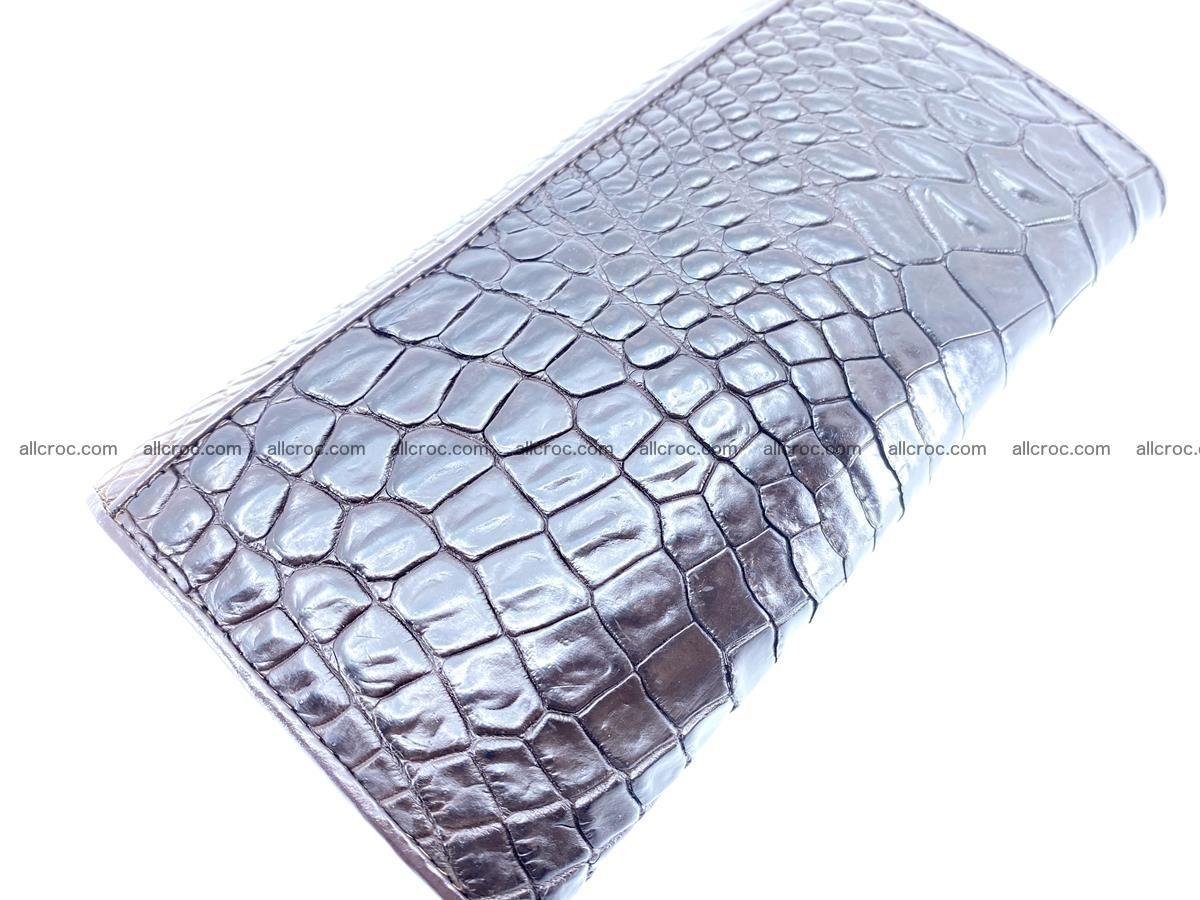 Crocodile leather wallet long wallet trifold 654 Foto 3