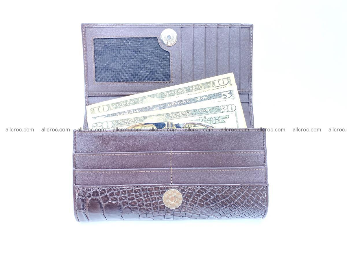 Crocodile leather wallet long wallet trifold 654 Foto 6