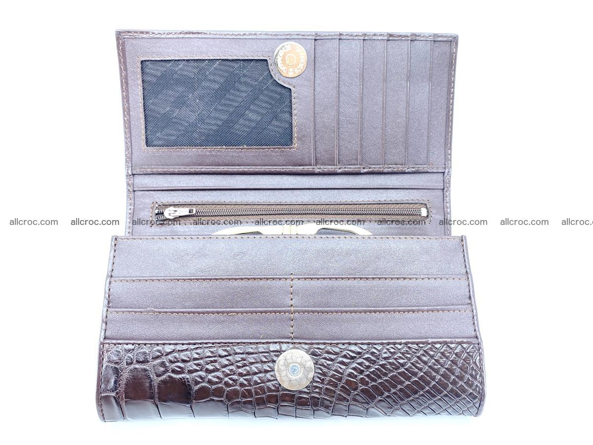 Crocodile leather wallet long wallet trifold 654 Foto 7