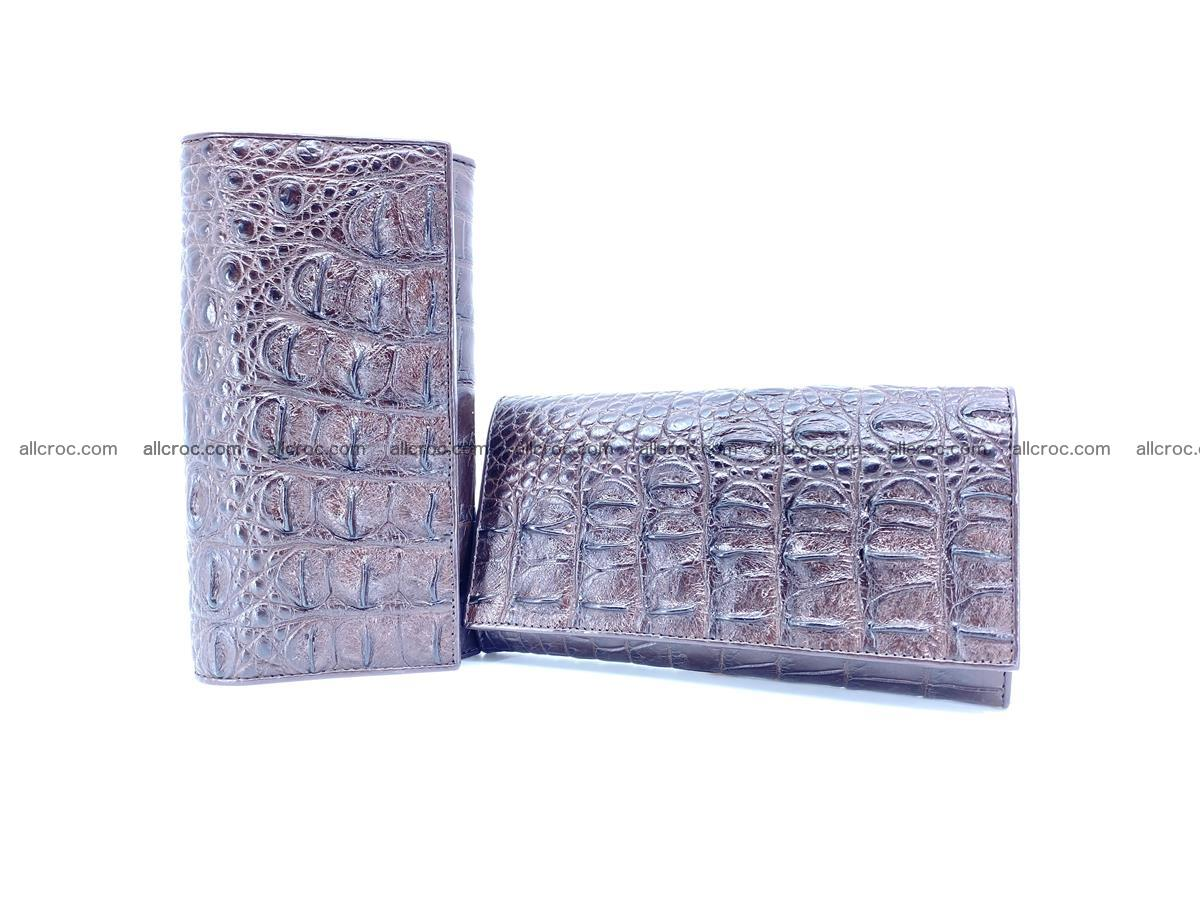Crocodile leather wallet long wallet trifold 649 Foto 9
