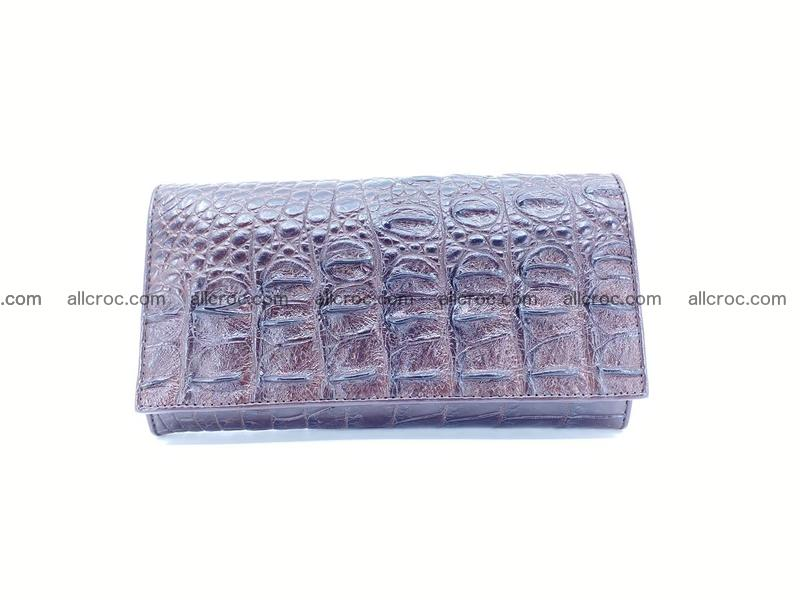 Crocodile leather wallet long wallet trifold 649