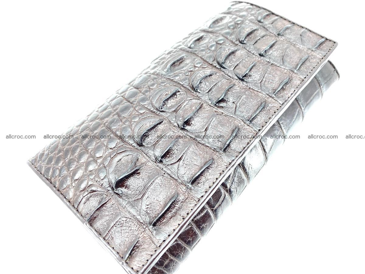 Crocodile leather wallet long wallet trifold 649 Foto 2