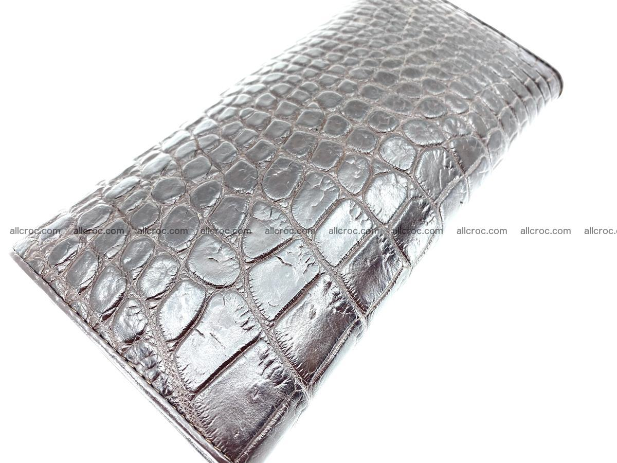 Crocodile leather wallet long wallet trifold 649 Foto 3
