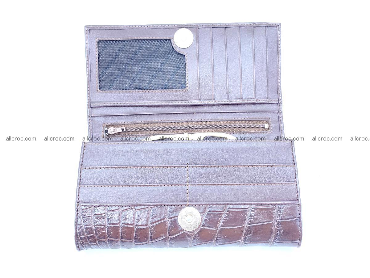 Crocodile leather wallet long wallet trifold 649 Foto 5