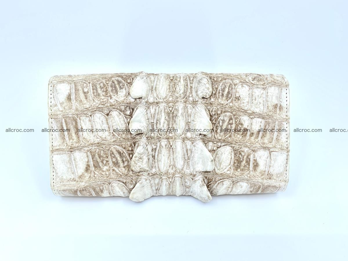 Long wallet trifold from Siamese crocodile leather 511 Foto 1